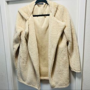 Brandy Melville Faux Fur Teddy Jacket